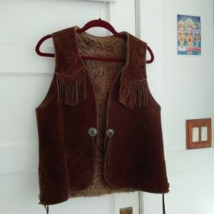 Vintage Handmade Leather Vest